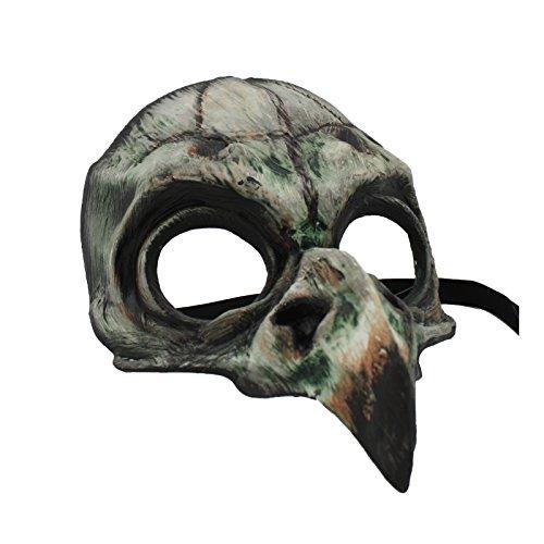 Men's Bird Skull Mask (Green) ()