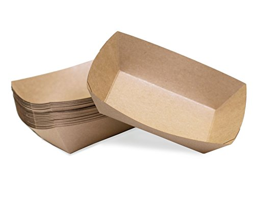 Small (1/4 Lb.) Kraft Paper Food Tray | 25 (Party Tray Size)