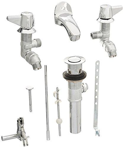 Central Brass 1178-DA 2-Handle Slant Back Lavatory (Back Mount Faucet)