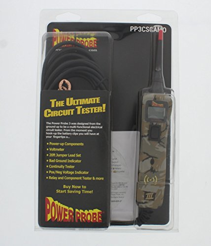 Power Probe III Clamshell - Camo (PP3CSCAMO) [Car Automotive Diagnostic Test Tool, Digital Volt Meter, AC/DC Current Resistance, Circuit Tester] by Power Probe