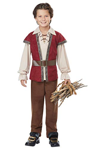Renaissance Boy - Child Costume Red/Cream -