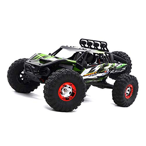 Keliwow Electric RC Buggy 1/12 4WD RC Car,2.4Ghz Radio Remote Control Off Road Truck 70KMH Monster High Speed Rc Rock Crawler Truck RTR All Terrain Car Brushless Desert Rc Car (07-Green)