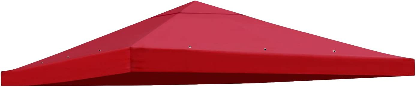 BenefitUSA Replacement 10'X10'Gazebo Canopy top Patio Pavilion Cover Sunshade Polyester Single Tier (Burgundy)