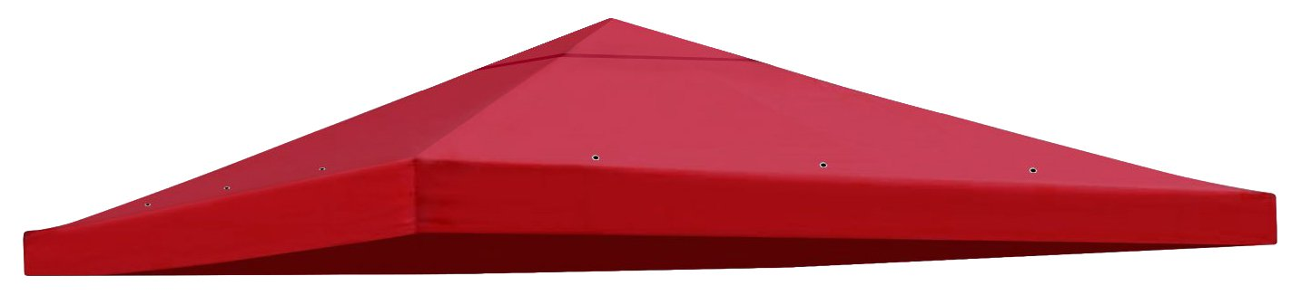 BenefitUSA Replacement Gazebo Canopy Top Patio Pavilion Cover Sunshade Polyester Single Tier, Burgundy