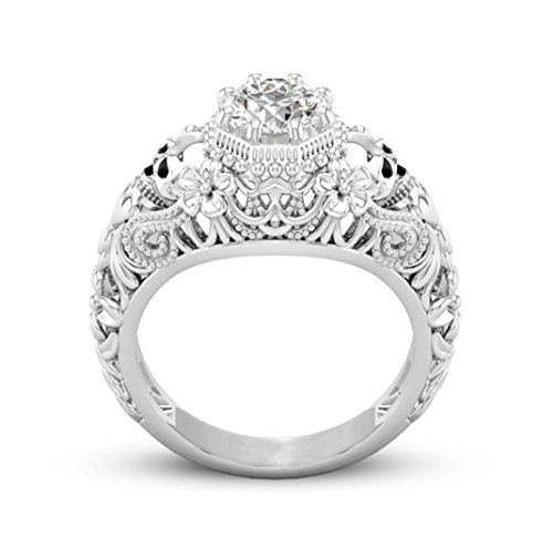 Napoo-Rings Clearance Creative Valentine Gift Ring Skull Diamond Luxury Ring