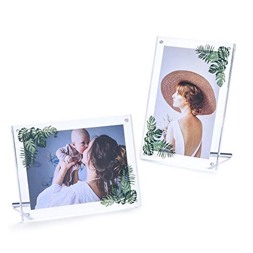 Phattopa 5x7 Inch Picture Frame Clear Acrylic