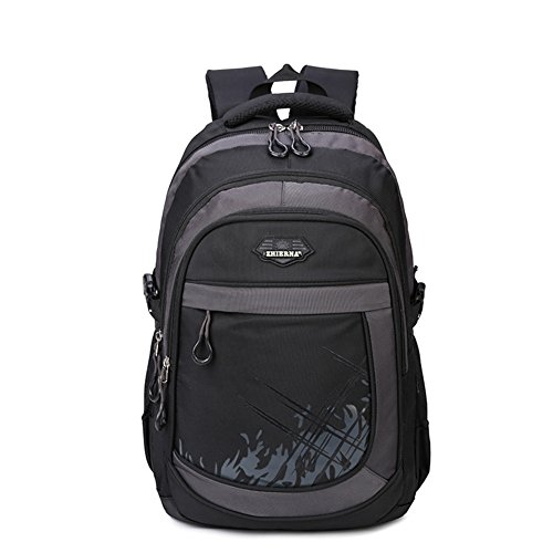 School Backpack for Elementary School Middle School (Black Elementary School)