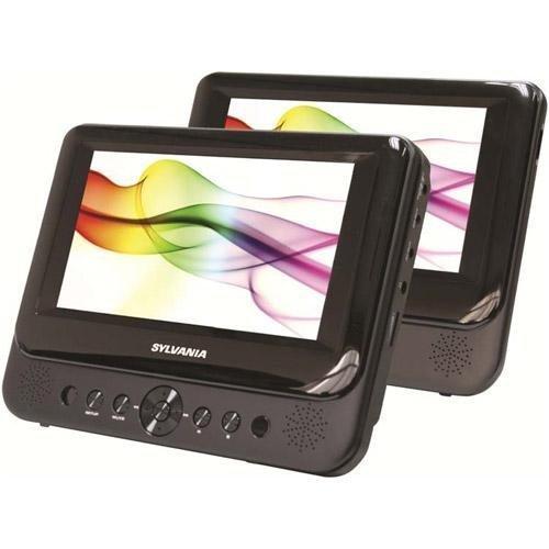 Sylvania SDVD8716-COM 7'' Dual Screen Portable DVD Player, Black (Certified Refurbished)