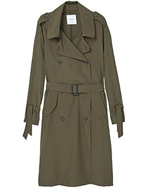 Mango Women's Cotton-Blend Trench Coat