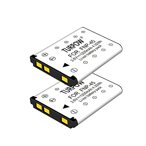 NP 45 Battery-TURPOW 2 Pack Replacement Battery for NP-45 NP-45A NP-45B NP-45S and Fujifilm FinePix XP20 XP22 XP30 XP50 XP60 XP70 XP80 XP90 T350 T360 T400 T500 T510 T550 T560 JX500 JX520 JX550 JX580 -