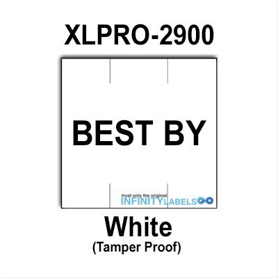 78,000 XLPro 2900 compatible ''BEST BY'' White Labels to fit the X-Mark TXM 29-117P, 29-11117, 29-111111, XLPRO 29-2P, 29FFC, 29FFF Price Guns. Full Case [bulk pricing] by Infinity Labels