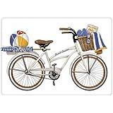 Mary Lake-Thompson - White Bike Flour Sack Towel