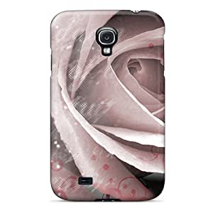 New Premium Flip Case Cover Rose Skin Case For Galaxy S4