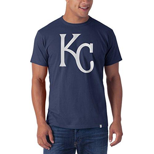 ('47 MLB Kansas City Royals Men's All Pro Flanker Tee, Large, Bleacher Blue)