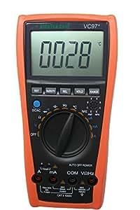 Aidetek VC97 - Multímetro digital (condensador, amperios, voltaje CA y CC)