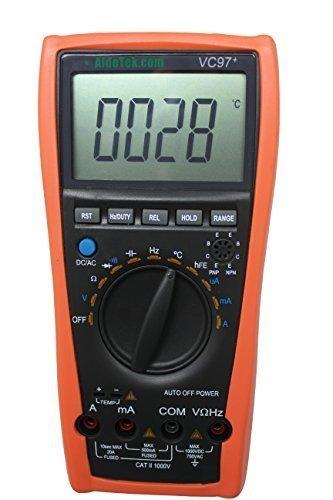 50 opinioni per Aidetek VC97+ digital auto range multimeter Tester Capacitor Amp Voltage AC DC