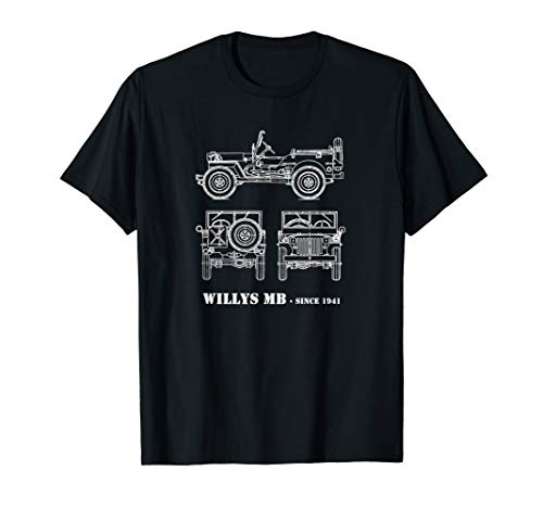 (WWII Vintage Willys MB Jeeps T-shirt)