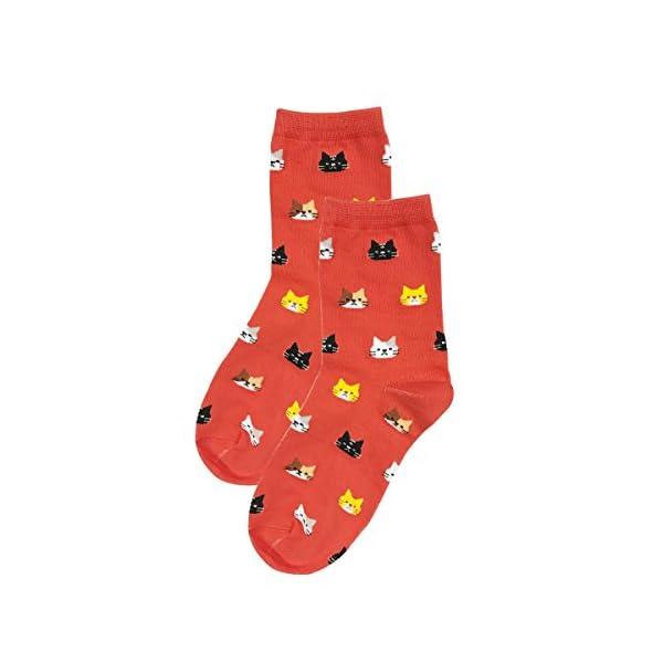 Bowbear Womens 5-Pair Silly Animals Crew Socks, Walk My Dog 3