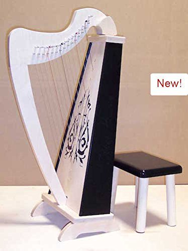 Zither Heaven 15 String Maple Black Harp Bench Musical Instrument by Zither Heaven