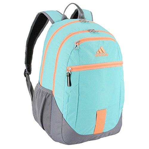 adidas Foundation III Backpack, Energy Aqua/Grey/Flash Orange, One Size