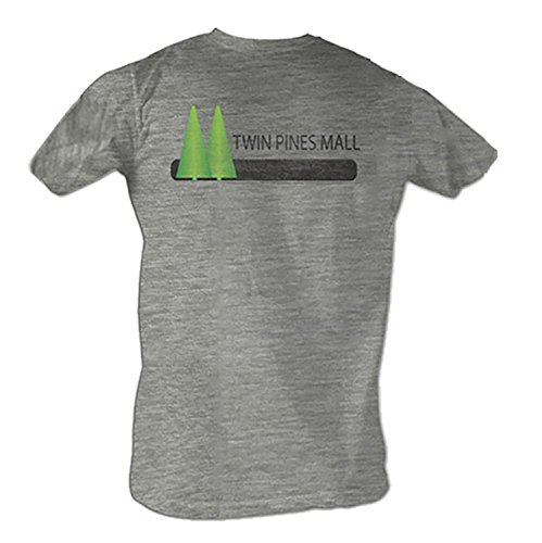 Back to the Future Twin Pines Mall Security Gray Heather Adult T-shirt Tee (Adult - Stores Pines Mall