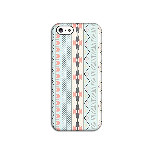 Striped Blue Tribal Patterned Deflector Back Case for Apple iPhone 5 5S