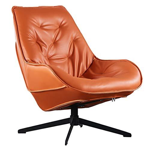 Amazon.com: PU Leather Swivel Chair, Lounge Chair Living ...