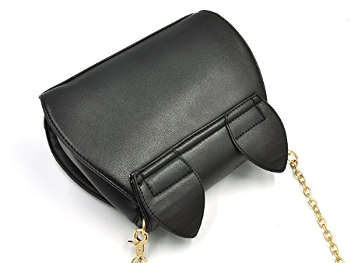 Para De Bolso Cuero Xrten Bandolera Negro Niñas Hombro Mujer Pequeños Pu q8wPU5w