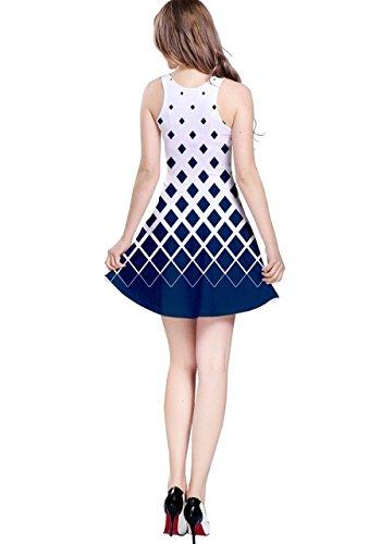 CowCow - Vestido - para mujer White & Blue