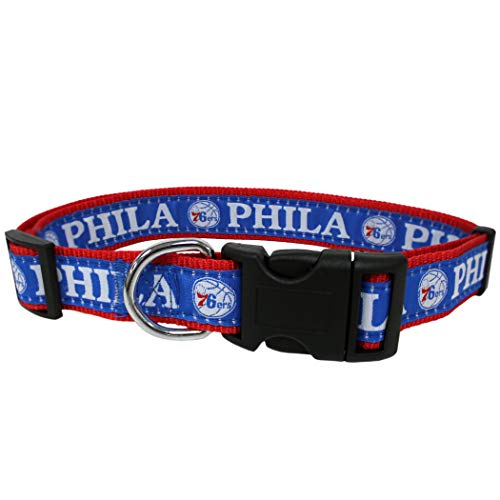 - NBA Philadelphia 76ERS Dog Collar, Size Large. Best Pet Collar for All Sports Fans
