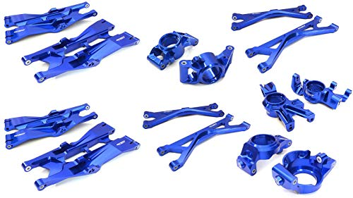 Integy RC Model Hop-ups C27047BLUE Billet Machined Steering Links for Traxxas X-Maxx 4X4