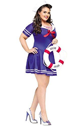 8eighteen Sailor Anchor's Away Plus Size Halloween Costume (Plus Size Anchors Away Sailor Costume)