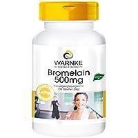 WARNKE – Bromelina 500mg - 100 compresse - Enzima dell'ananas naturale - Antinfiammatoria / Migliora la circolazione e facilita la digestione