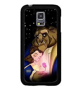 Samsung Galaxy S5 Mini Funda Case - Beauty And The Beast Funda Case Dirt-Proof Hard Plastic Funda Case Cover Fit For Samsung Galaxy S5 Mini