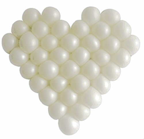 Elecrainbow 5 Inch White Balloons, Pearl Round Balloon for Balloon Arch Modelling, Pack of 100 (Small White Balloons)
