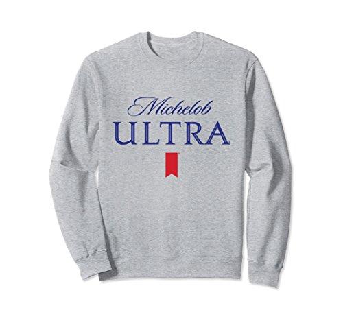 Unisex Michelob Ultra Logo Sweatshirt Large Heather Grey