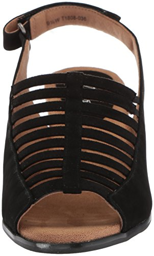 Women's Trotters Minnie Sandal nubuck Black zHPxgwqSH