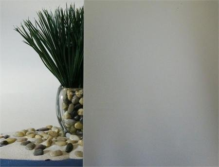 White Frost Privacy Window Film, Adhesive Free - 36'' Wide (36'' x 25 FT) by Remlor Window Films