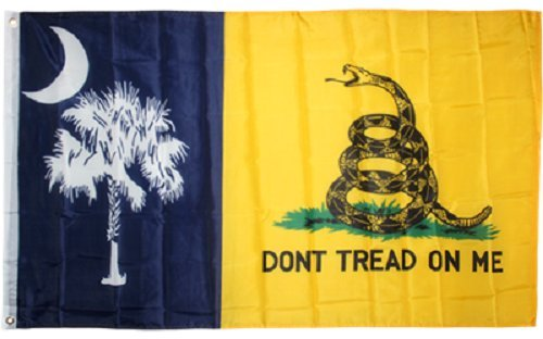 3x5 Gadsden Dont Tread On Me South Carolina State Flag 3x5 B
