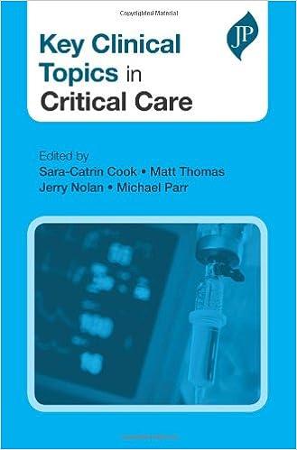 Key Clinical Topics in Critical Care: Amazon co uk: Matt Thomas