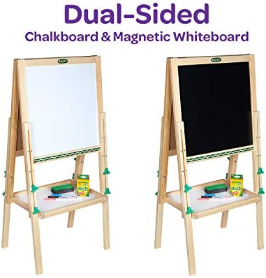 Crayola Kids Mini Wooden Art Easel & Supplies, Amazon Exclusive, Kids Toys, Gift, Ages 3, 4, 5, 6