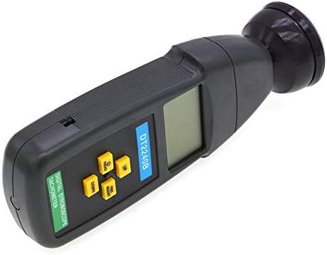 Maxte DT2240B Digital Non-Contact Flash Stroboscope Tachometer Photoelectric Revolution Meter 60-40000Rpm Speedometer Tester