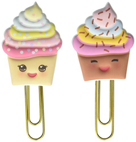 Paper House Productions Papelería Kawaii cupcakes, apestoso Clips, 3-Pack