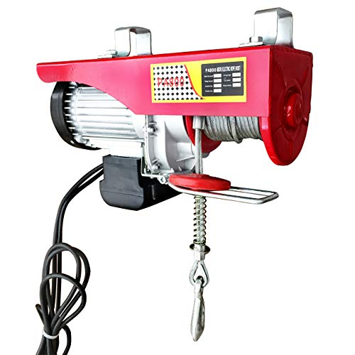 Electric Hoist Lift 1760LBS Overhead Winch Crane Powered Wire Hoist w/Remote Control for Garage Auto Shop (110V, 1450W)
