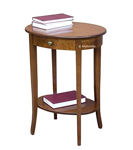 Tavolini Da Salotto In Stile Classico.Tavolino Ovale Da Salotto Con 1 Cassetto E 1 Ripiano Inferiore