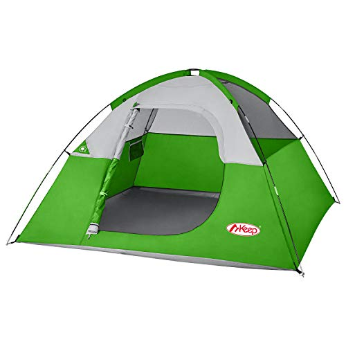 3 Person Tent – Easy & Quick Setup Tent for Camping, Professional Waterproof & Windproof Fabric, Anti-UV, Double Layer, 3 Large Mesh for Ventilation, Lightweight & Portable with Carry Bag, Green tent