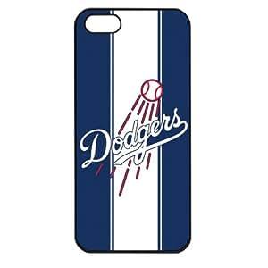 MLB Major League Baseball Los Angeles Dodgers Apple iPhone 5 TPU Soft Black or White case (Black)