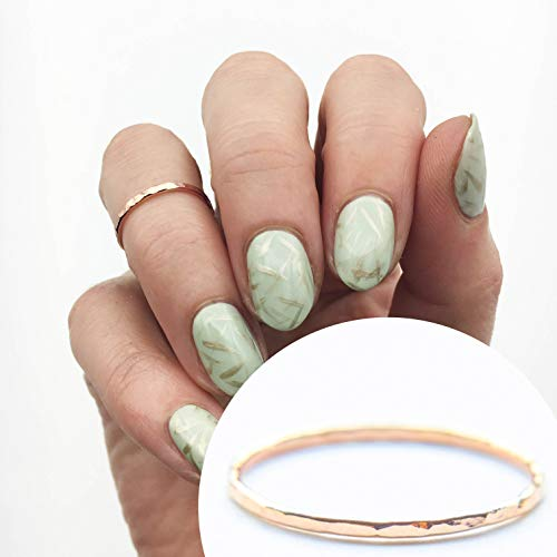 (Stacking Ring 14k Rose Gold Filled, Dainty Little Plain Band, Size 4)