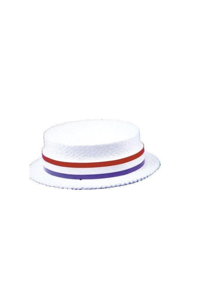 Skimmer Styrofoam Hat - 24 Hats in a Box by WonderCostumes (Image #1)