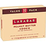 Larabar Gluten Free Bar, Peanut Butter Cookie, 1.7 oz Bars (10 Count)
